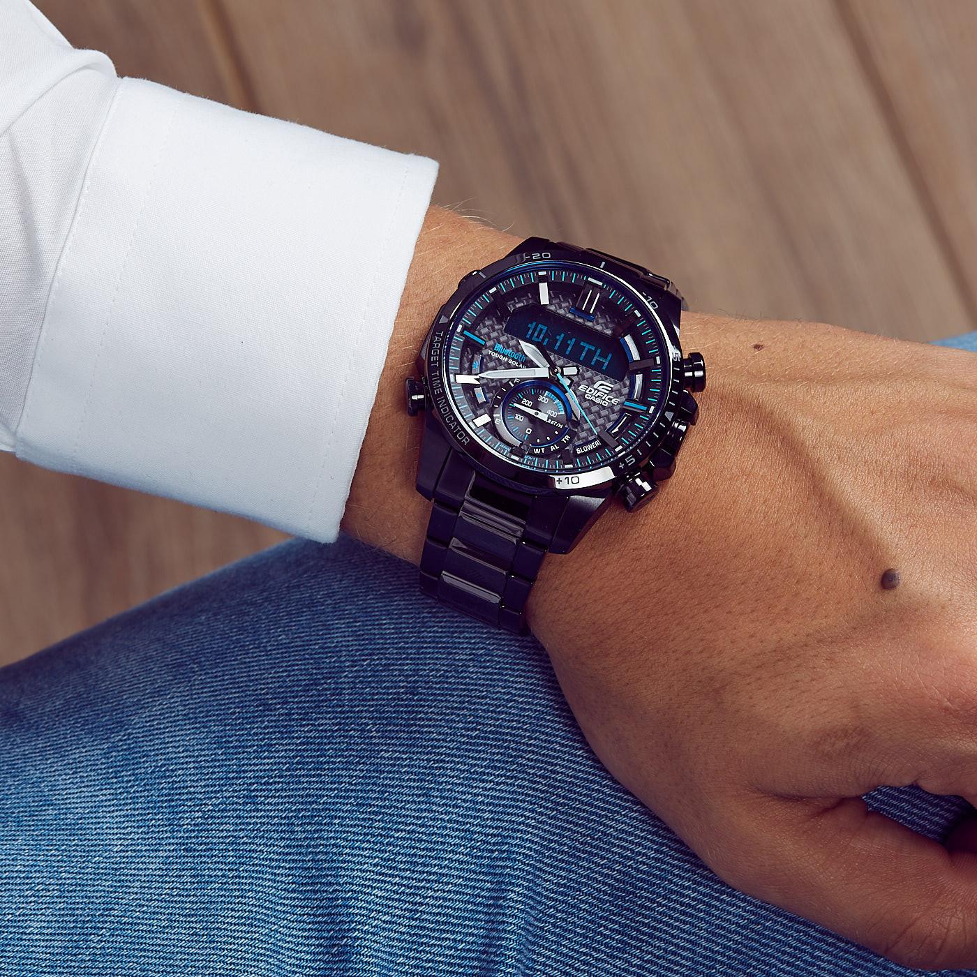 Edifice Bluetooth Connected Race Chrono horloge ECB-800DC-1AEF