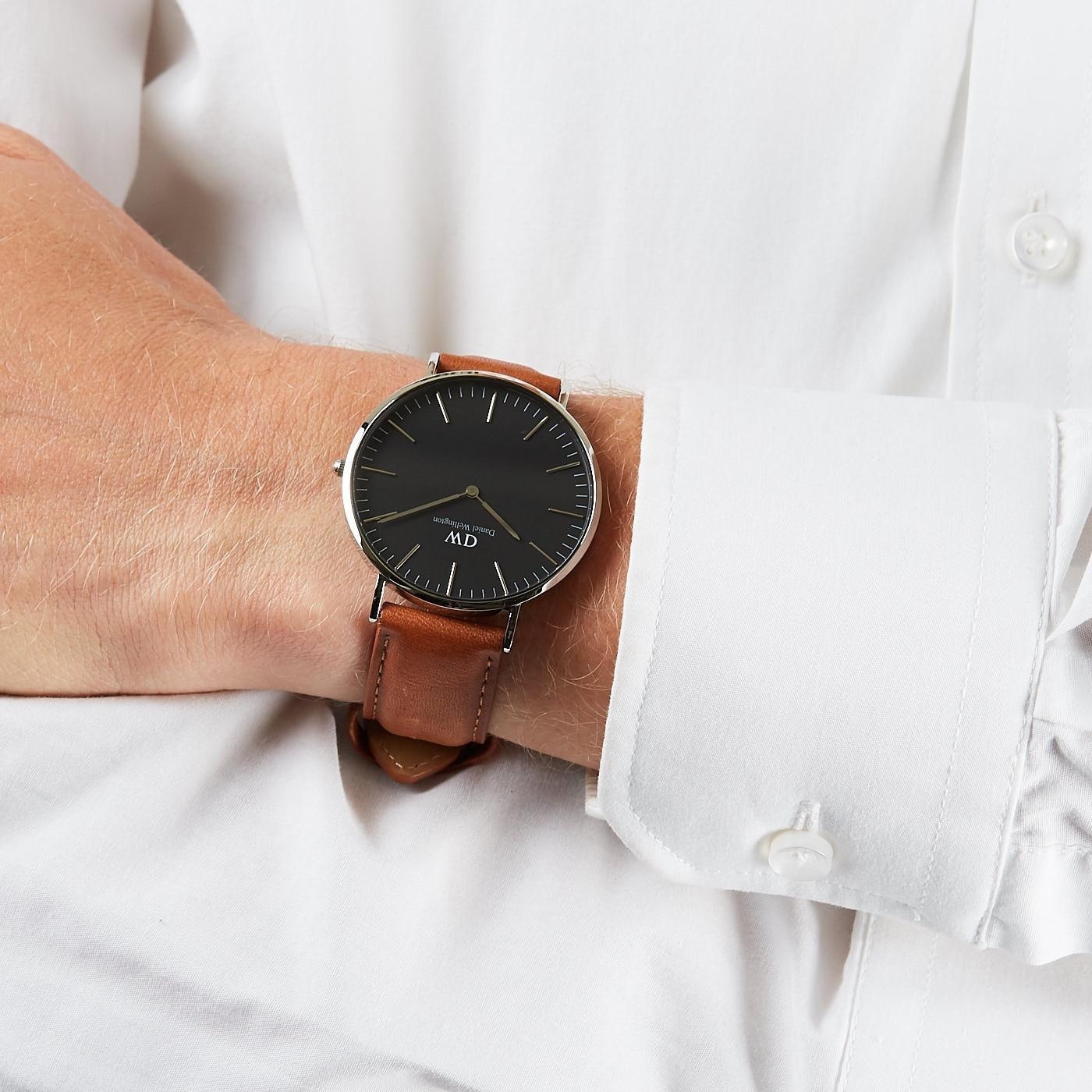 4c733fcc8949c6 Daniel Wellington Classic Black Durham horloge DW00100132 (40 mm)
