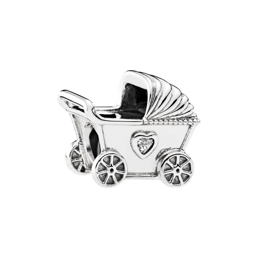 Pandora Zilveren Baby Carriage Cubic Zirconia Bedel 792102CZ