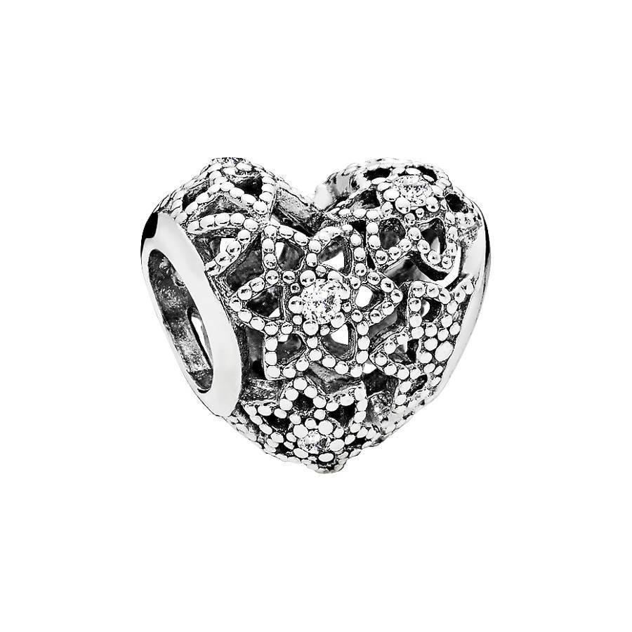 Pandora Moments Zilveren Blooming Heart Bedel 796264CZ