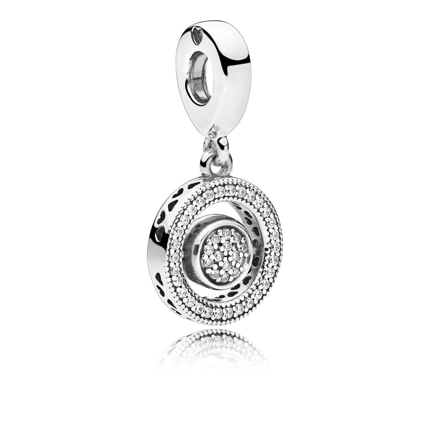 Pandora Moments 925 Sterling Zilveren Spinning Signature Bedel 797430CZ