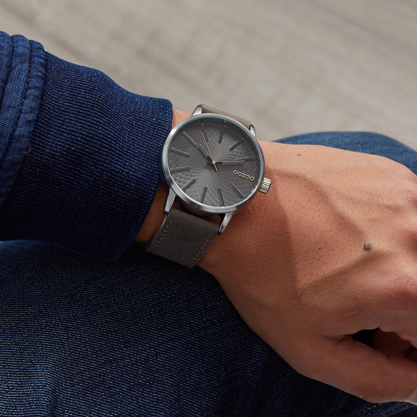 OOZOO Timepieces Grijs horloge C9606 (45 mm)