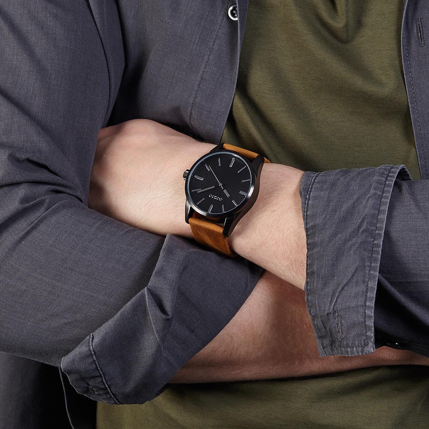 OOZOO Timepieces Bruin/Zwart horloge C9627 (45 mm)