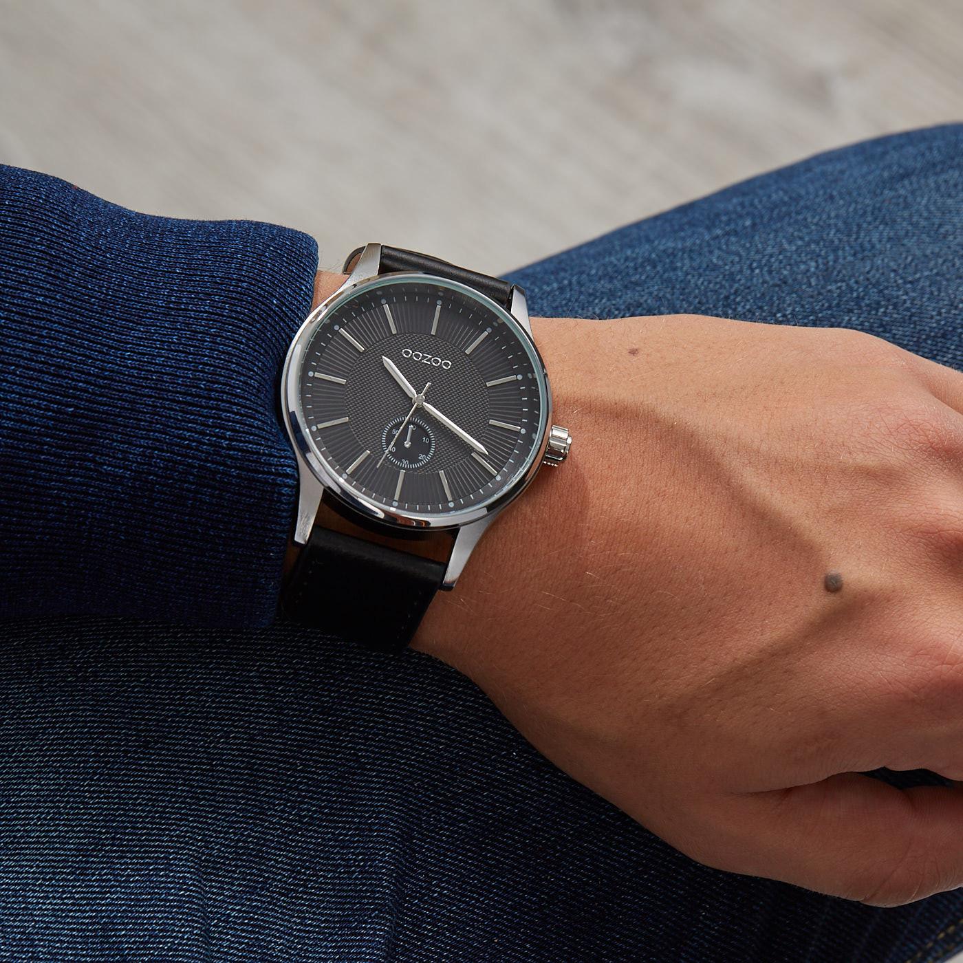 OOZOO Timepieces Zwart horloge C9639 (48 mm)