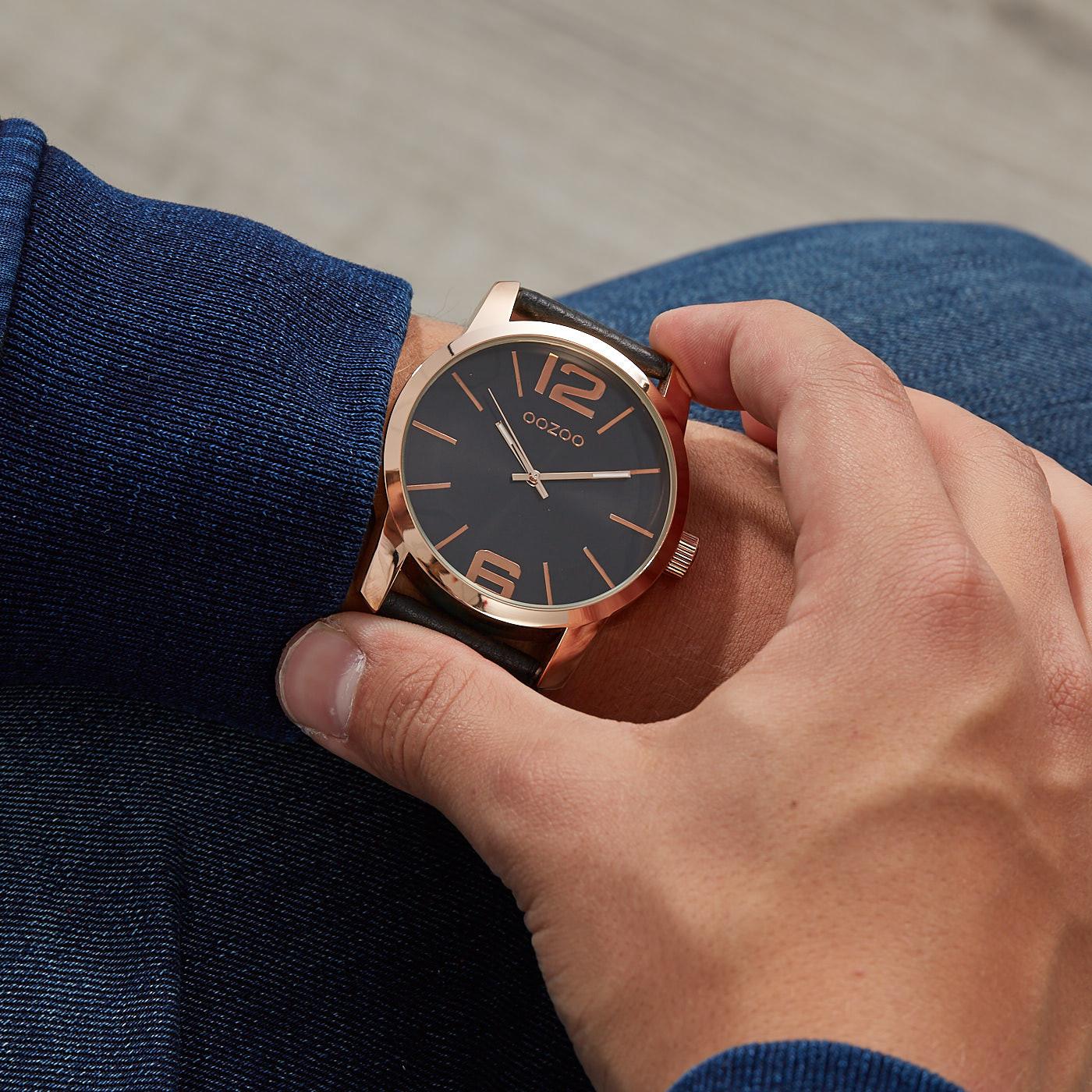 OOZOO Timepieces Zwart horloge C9734 (48 mm)