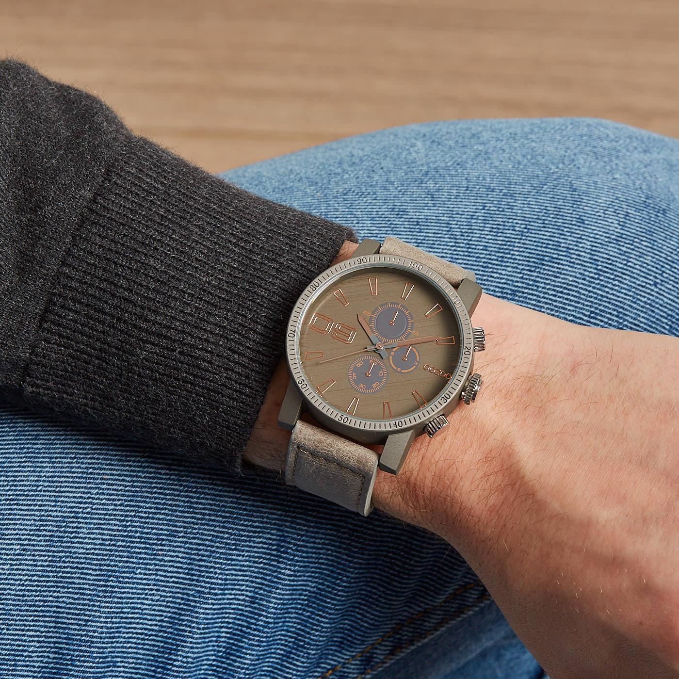OOZOO Timepieces Grijs/Rose horloge C7871 (45 mm)