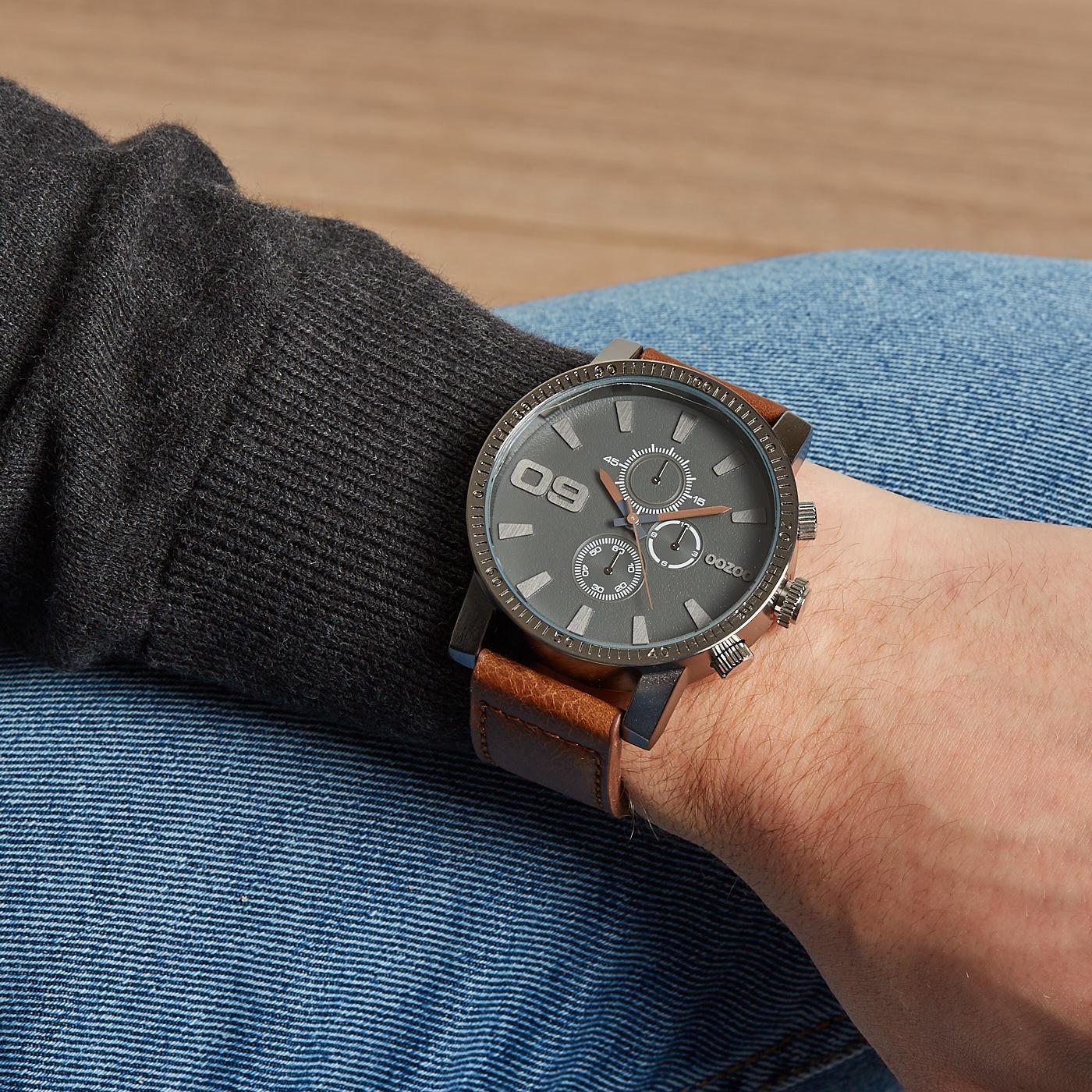OOZOO Grijs horloge C9032