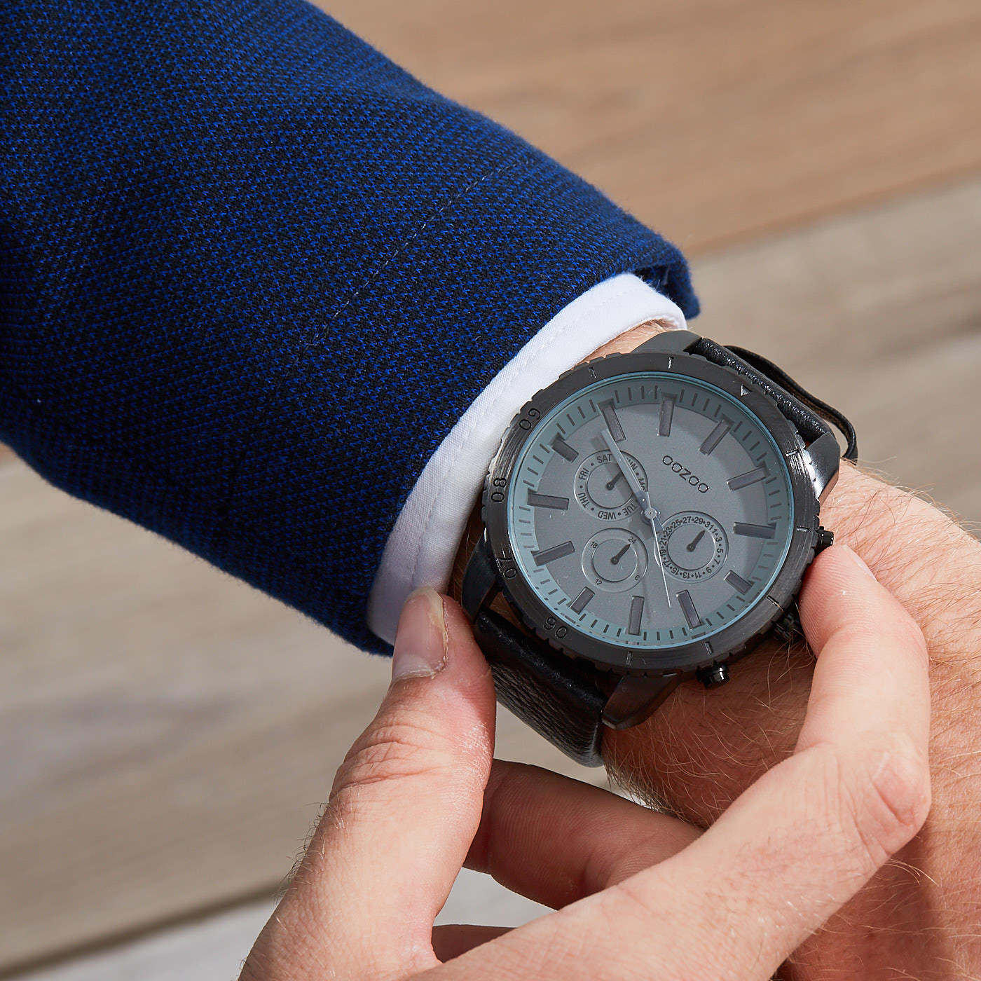 OOZOO Timepieces Zwart horloge C9449 (50 mm)