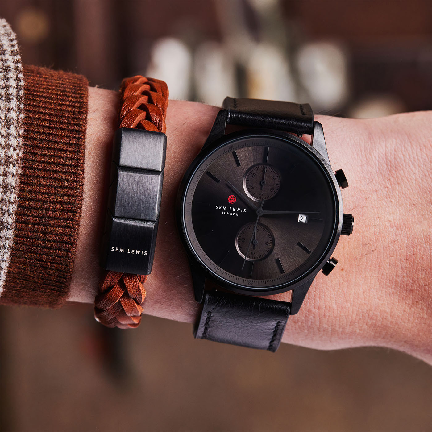 Sem Lewis Metropolitan Finchley Chronograph horloge SL1100019