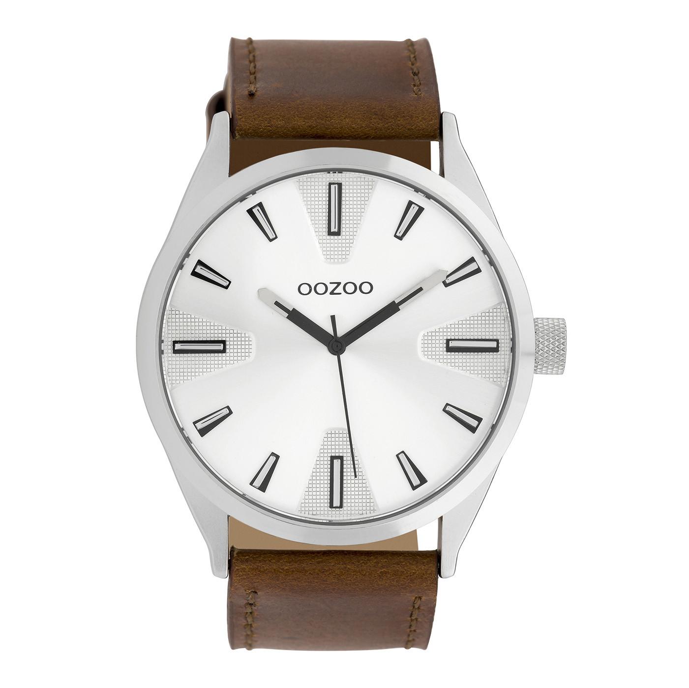 OOZOO Timepieces Bruin/Wit horloge C10020 (46 mm)