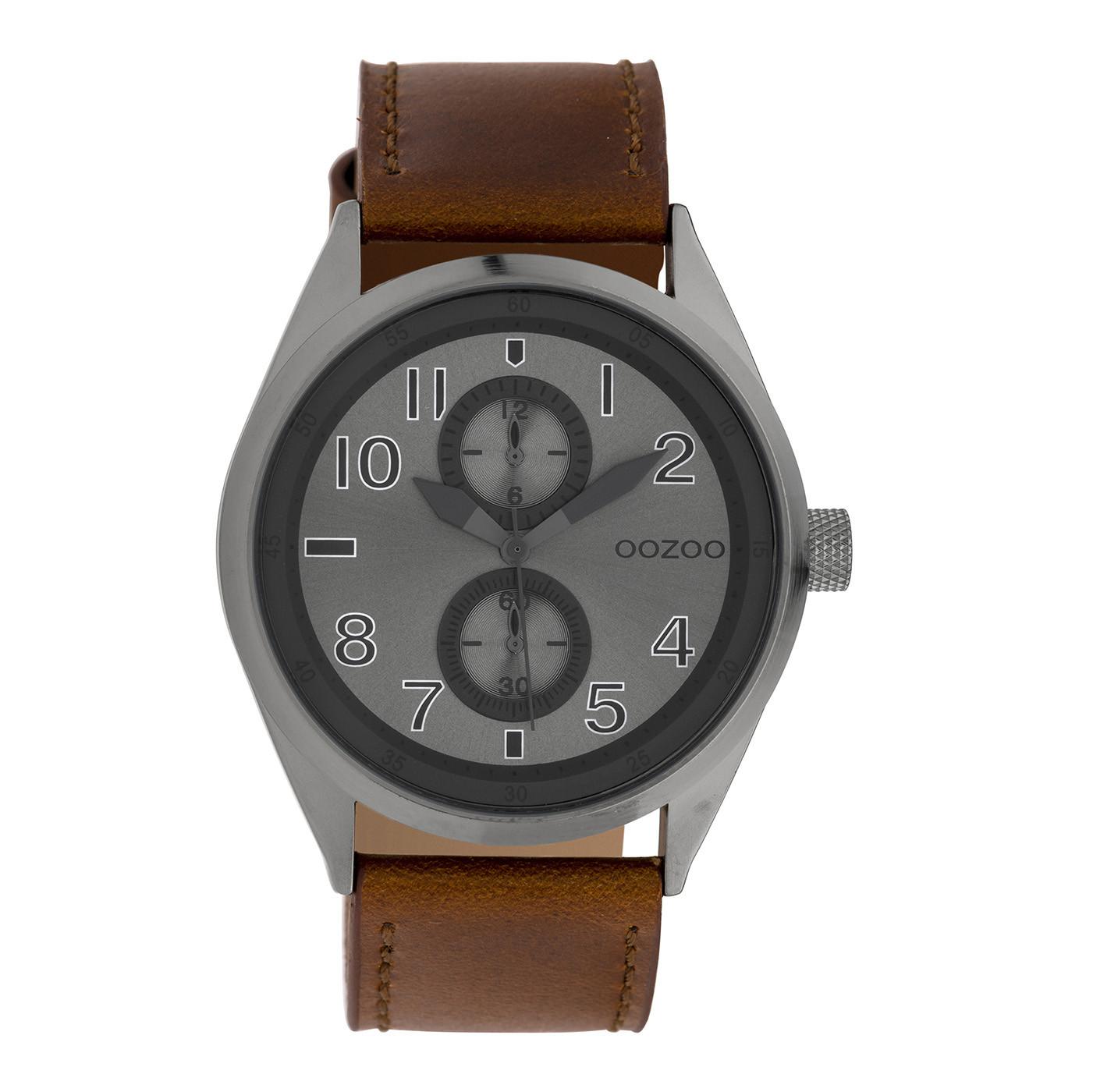 OOZOO Timepieces Bruin/Grijs horloge C10028 (42 mm)