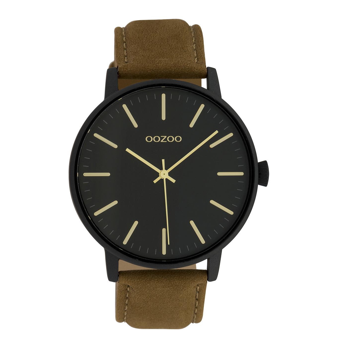 OOZOO Timepieces Camel/Zwart horloge C10042 (42 mm)