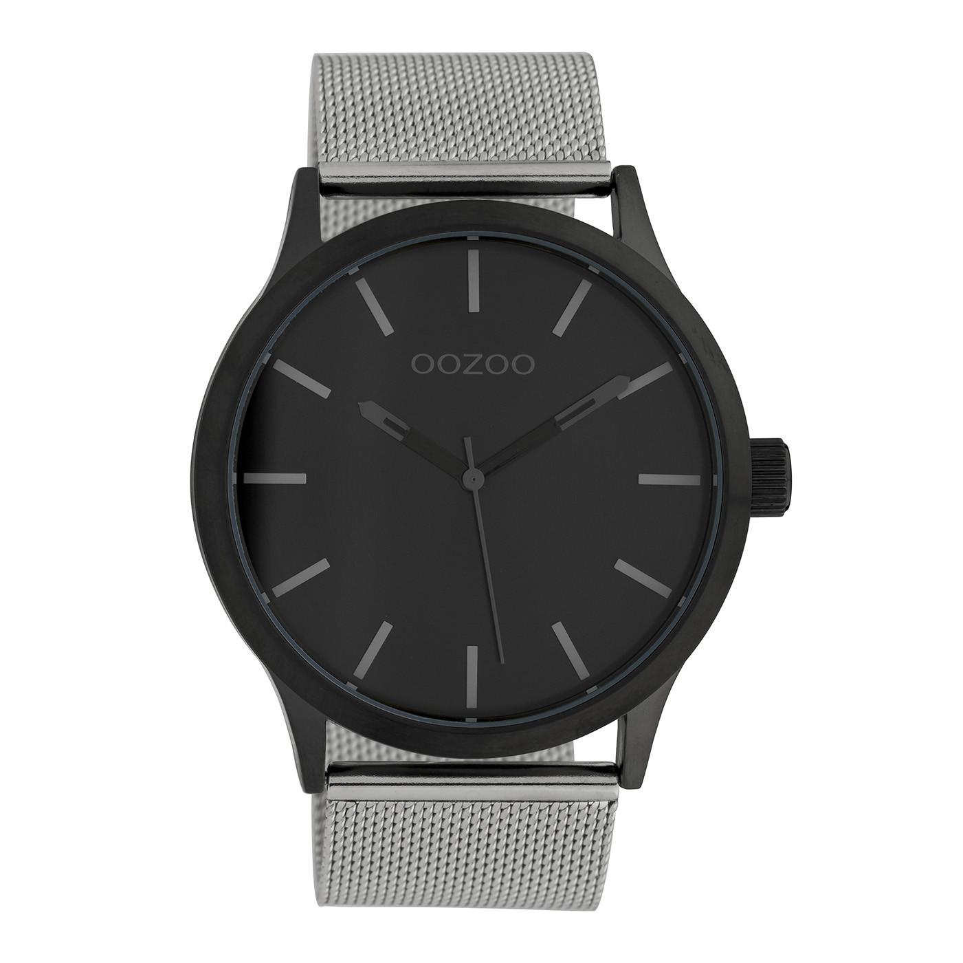 OOZOO Timepieces Zilverkleurig/Zwart horloge C10055 (45 mm)
