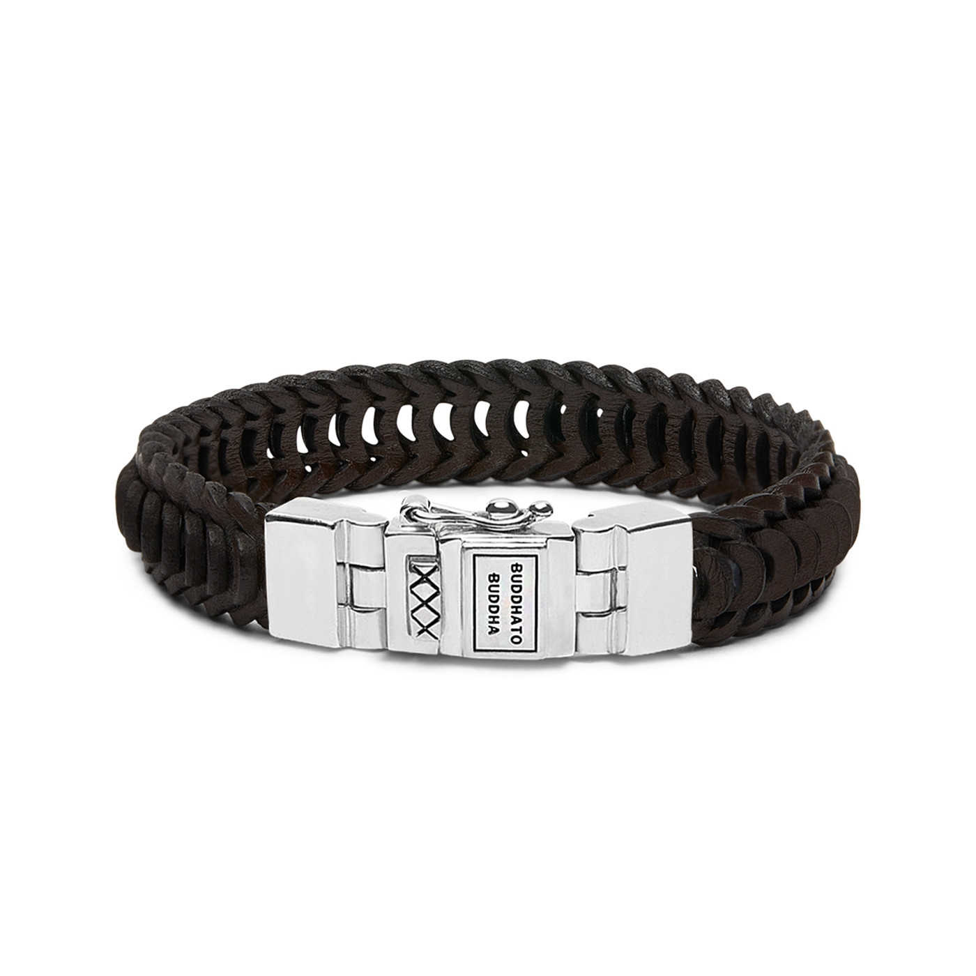 Buddha to Buddha Lars Leather Brown Armband 187BR (Lengte: 19.00-23.00 cm)