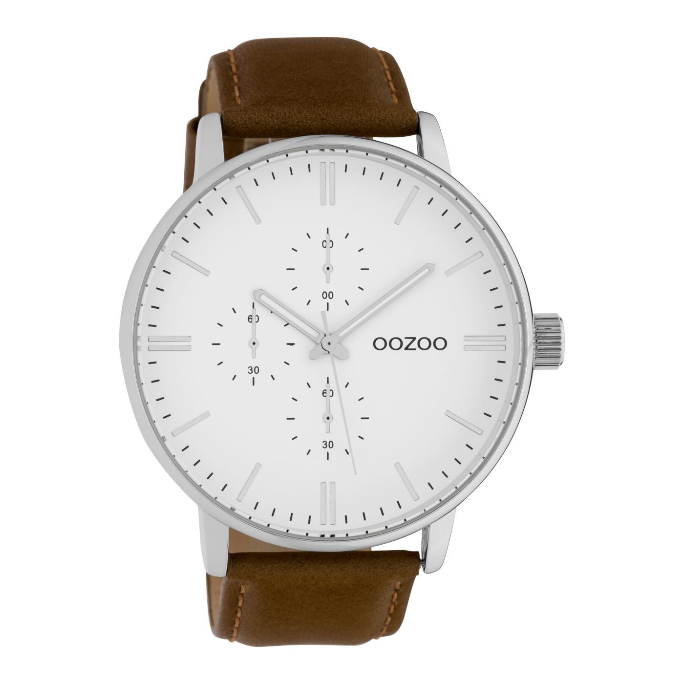 OOZOO Timepieces Bruin/Wit horloge C10311 (50 mm)