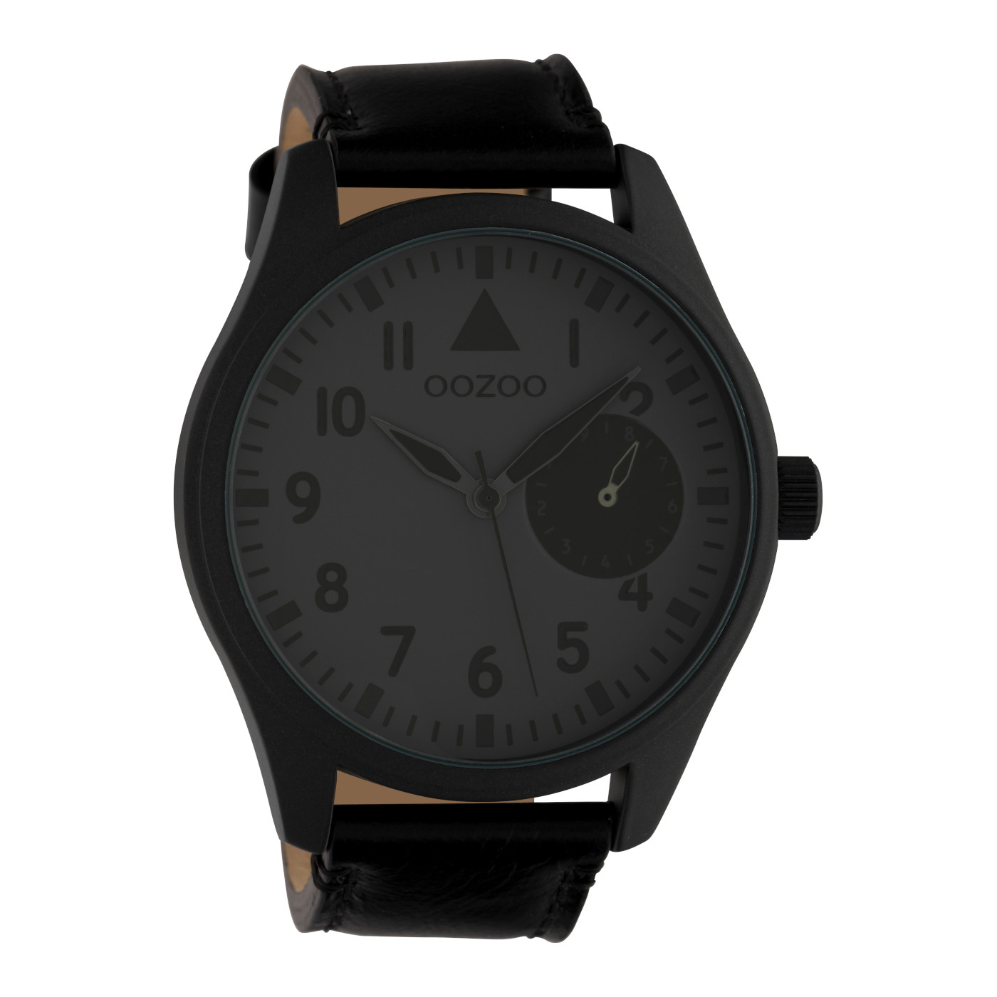 OOZOO Timepieces Zwart/Grijs horloge C10329 (50 mm)
