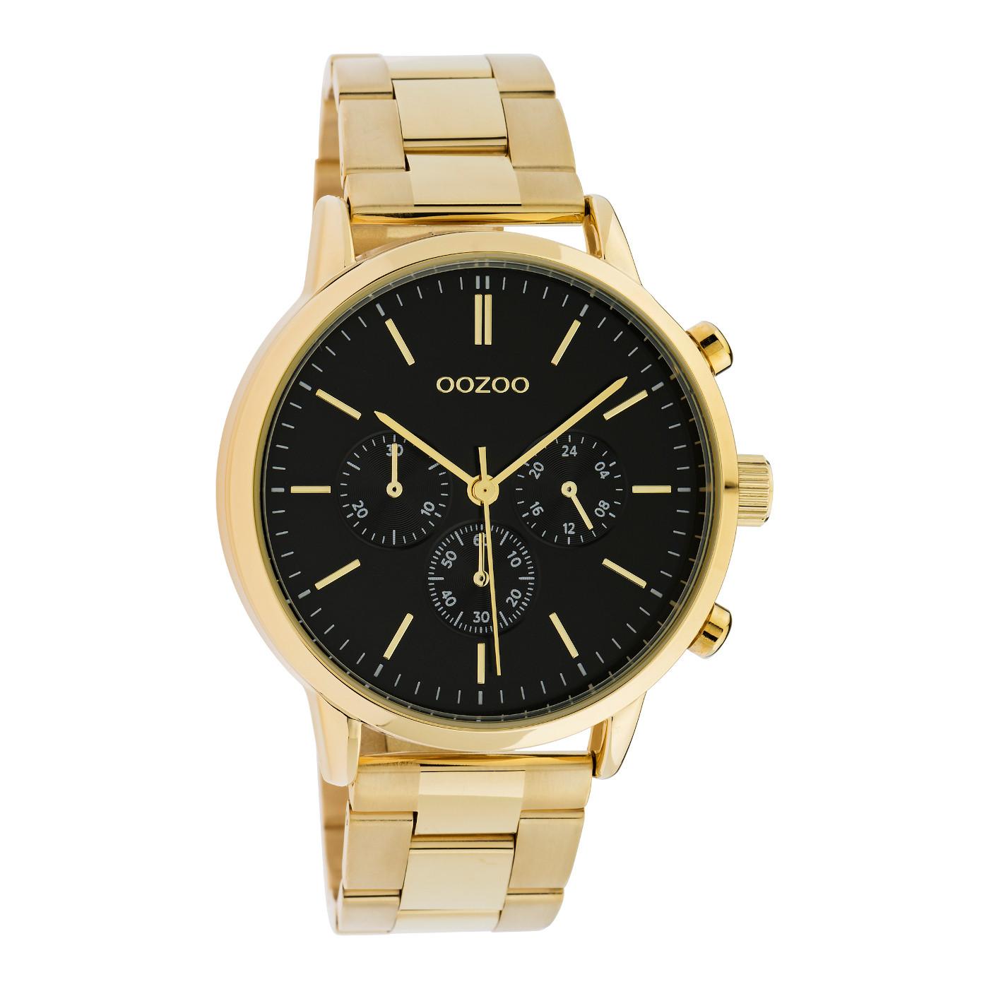 OOZOO Timepieces Goudkleurig/Zwart horloge C10548