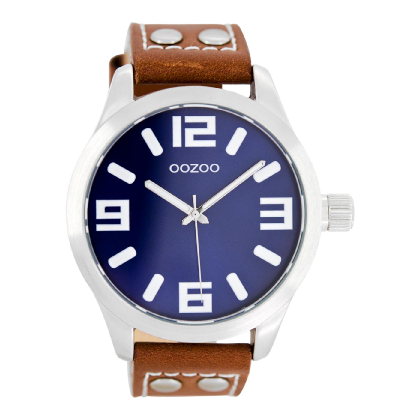 OOZOO Timepieces Bruin/Blauw horloge C1065 (46 mm)