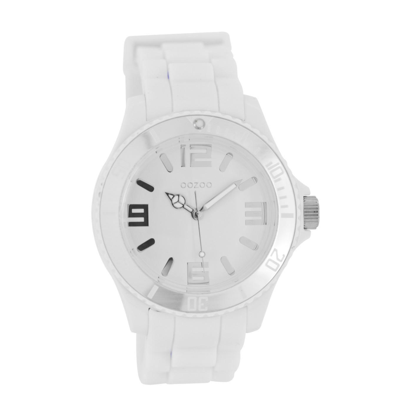 OOZOO Silicone Wit/Zilverkleurig horloge C4170 (43 mm)