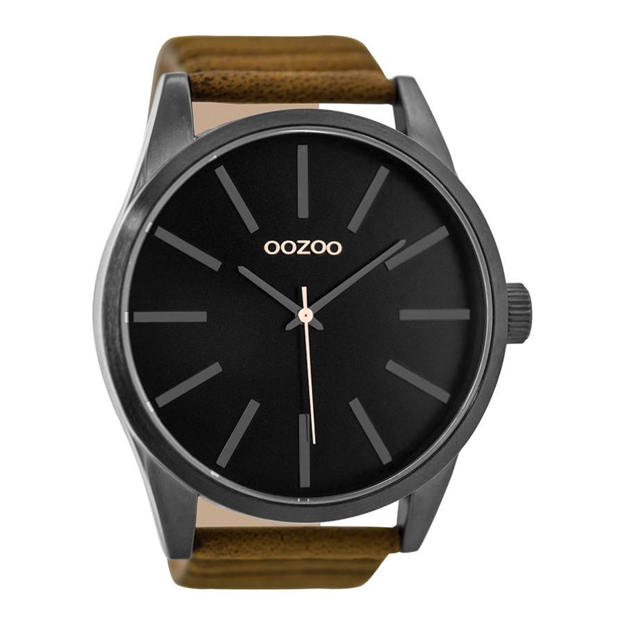 OOZOO Timepieces Bruin/Zwart horloge C9413 (50 mm)