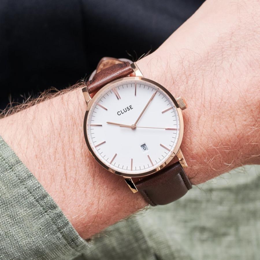 CLUSE Aravis Roségoudkleurig/Brown horloge CW0101501002