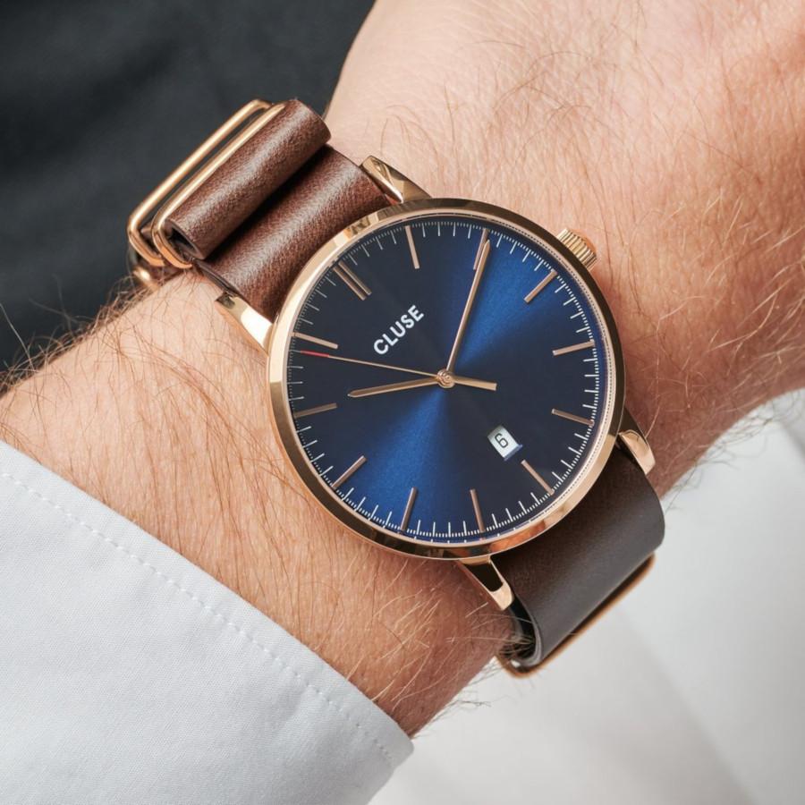 CLUSE Aravis Roségoudkleurig/Brown horloge CW0101501009