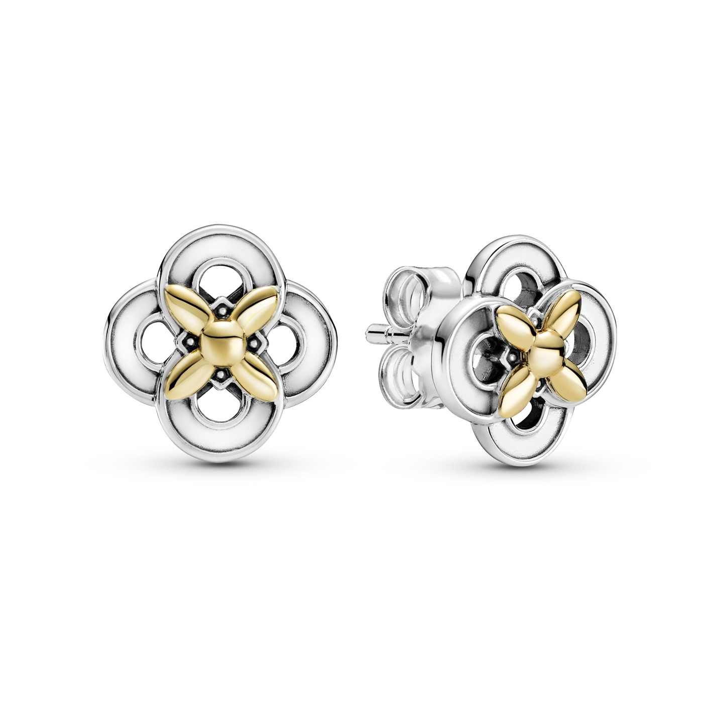 Pandora Passions Two-tone Flower Stud Oorknoppen 299349C00
