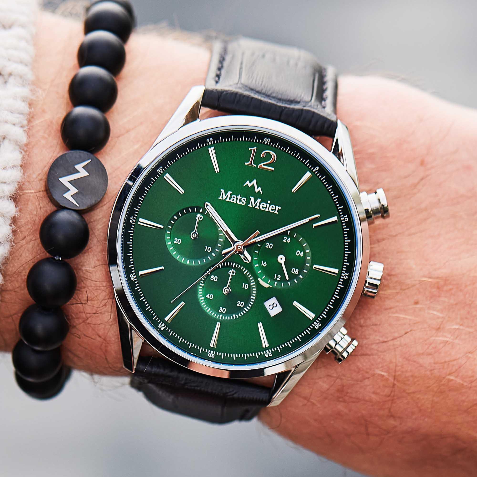 Mats Meier Grand Cornier Groen/Zwart Chrono horloge MM00128
