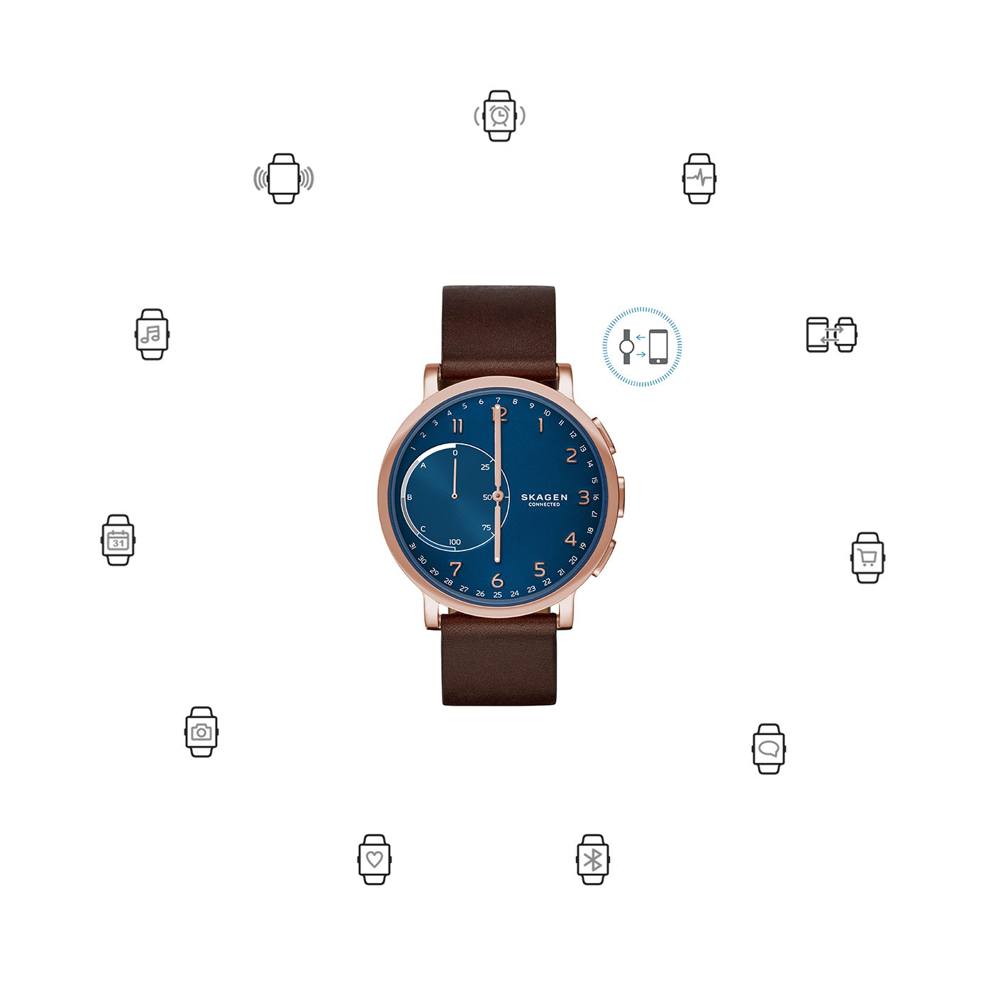 Skagen Connected Hagen Hybrid Smartwatch SKT1103