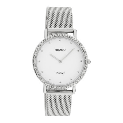 OOZOO Vintage Zilverkleurig/Wit horloge C20050