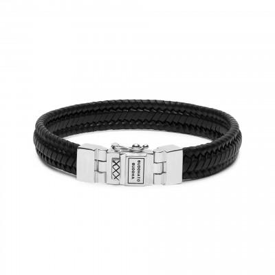 Buddha to Buddha Edwin Small Leather Black Armband 181BL-E (Lengte: 19.00-23.00 cm)