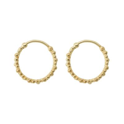 ANNA + NINA 925 Sterling Zilveren Essentials Cluster Goudkleurige Oorbellen 18-2M902014GP