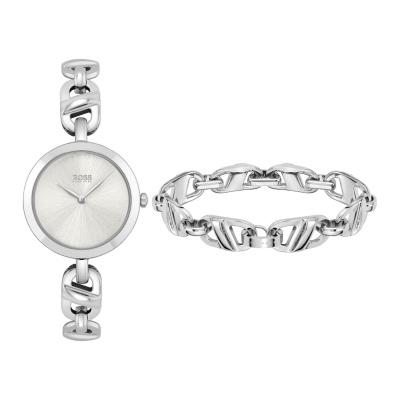 BOSS Chain Horloge en Armband Set HB1570116