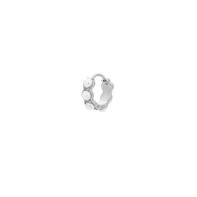 ANNA + NINA 925 Sterling Zilveren Single La Perla Ring Oorbel 21-1M902003S