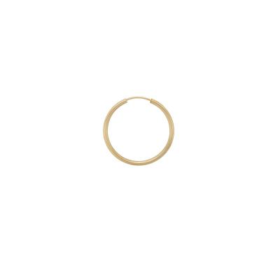 ANNA + NINA 925 Sterling Zilveren Single Thick Plain Ring Oorbel XXL 21-1M902006GP