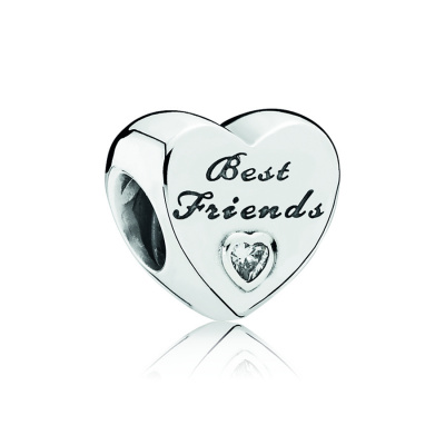Pandora Zilveren Best Friends Heart Bedel 791727CZ