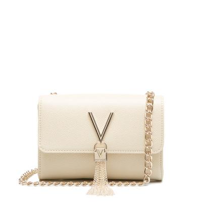 Valentino Divina Leren Crossbody tas VBS1R403GBEIGE