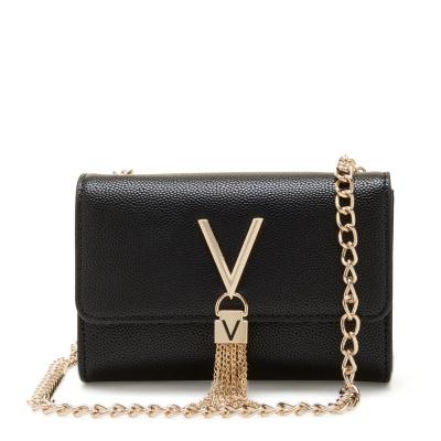 Valentino Bags Divina Nero-Gold Crossbody Tas VBS1R403GNERO-GOLD