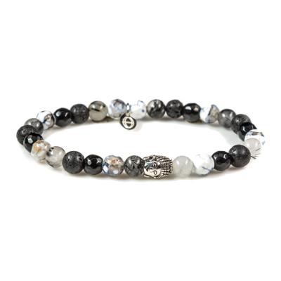 Karma Silver Buddha XS Frozen Armband 87051