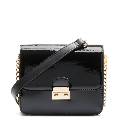 Violet Hamden Evening Star Glossy Black Mini Crossbody VH30002