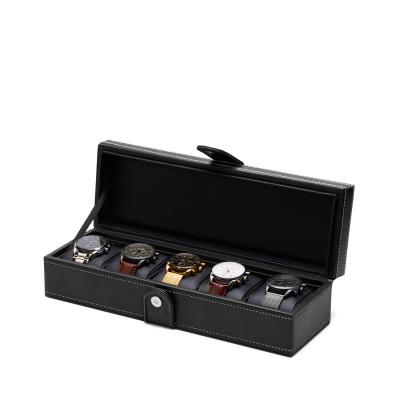 Mats Meier Mont Fort zwarte horlogebox voor 5 horloges