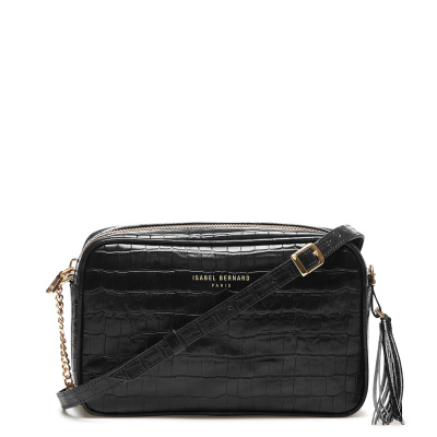 Isabel Bernard Honoré Lucie Black Croco Crossbody IB26007