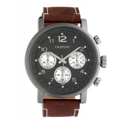 OOZOO Timepieces Bruin/Grijs horloge C10061 (48 mm)