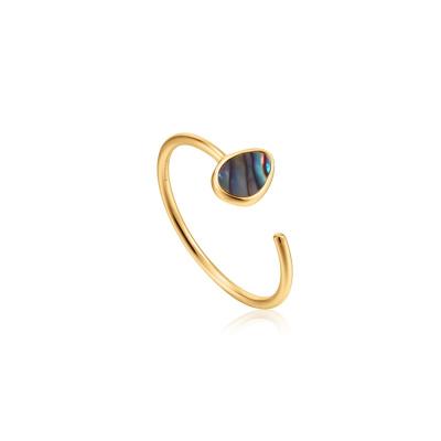 Ania Haie 925 Sterling Zilveren Goudkleurige Turning Tides Ring AH-R027-02G