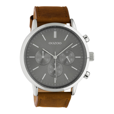 OOZOO Timepieces Bruin/Grijs horloge C10541
