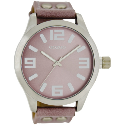 OOZOO Timepieces horloge Pink/Grey C1058 (46 mm)