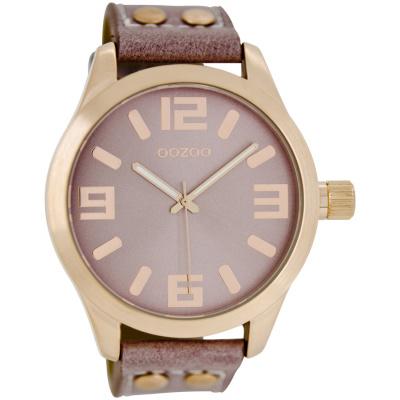 OOZOO Timepieces horloge Rozegrijs C1152 (46 mm)