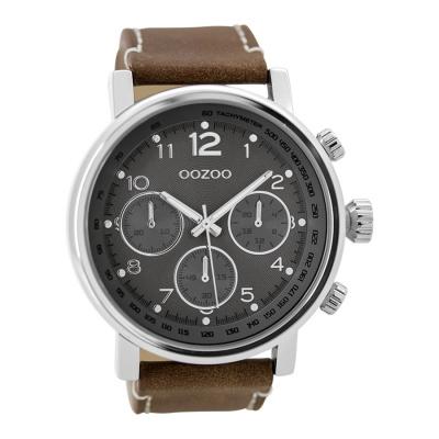OOZOO Timepieces Bruin/Grijs horloge C9457 (48 mm)