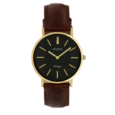 OOZOO Vintage Bruin/Zwart horloge C9838 (32 mm)