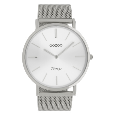 OOZOO Vintage Zilverkleurig horloge C9904 (44 mm)